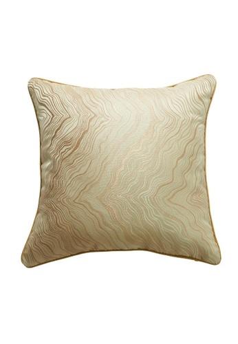 DILAS HOME beige Oriental Jacquard Cushion Cover (Beige) 20B49HL3EC6D8AGS_1
