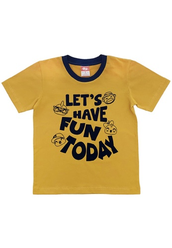 Didi and Friends yellow Kids Round Neck Short Sleeve T-Shirt - Yellow 737E1KA173D265GS_1