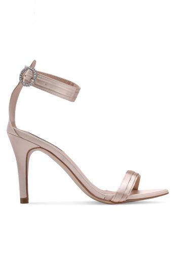 cba0024e1dbd Buy Nose Satin Ankle Strap Heels Online on ZALORA Singapore