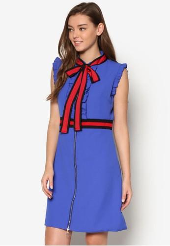 Serena 撞色蝴蝶結緞帶洋裝, 服飾, esprit tw洋裝