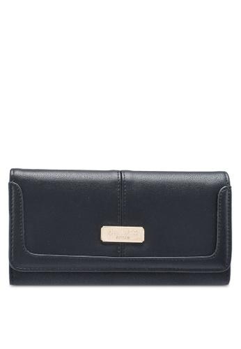 Unisa black Faux Leather Contrast Edge Ladies Bi-Fold Wallet 5B1F2AC37F52CFGS_1