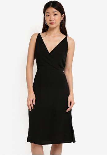 ZALORA black Collection Wrap Front Dress 81667AA4C914AAGS_1