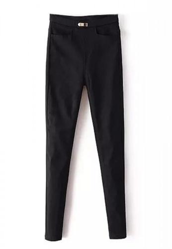 Sunnydaysweety black Simple Black Trousers R0325681 7FC61AA692376EGS_1