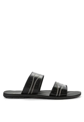 CARVIL black Sandal Casual Men Fiberco-02M CDB10SH0D7179BGS_1