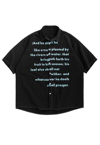Twenty Eight Shoes Loose Fluorescent Printed Short Shirt 2045S20 988EBAAAF19534GS_1