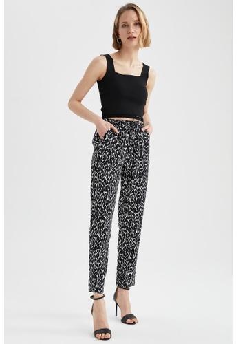 DeFacto black High Waist Viscose Trousers C2A65AA541B198GS_1