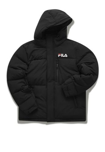 FILA black Online Exclusive FUSION FILA Logo Down Jacket ACAA3AAB0B180DGS_1