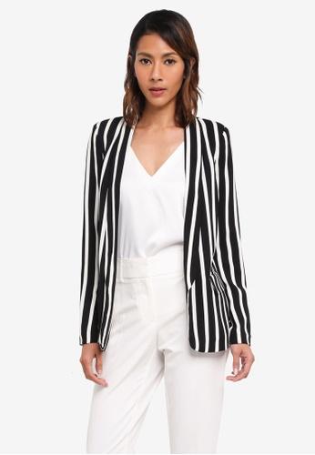 Vero Moda black Striped Blazer BB8C6AA5C7FB5CGS_1
