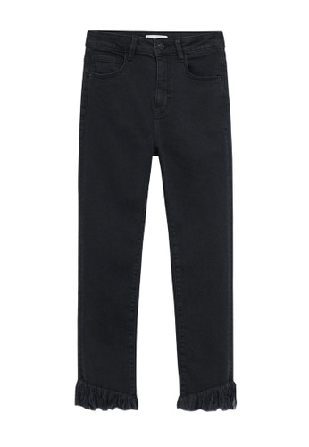 MANGO KIDS black Frayed Edges Jeans 2F773KA24043A1GS_1