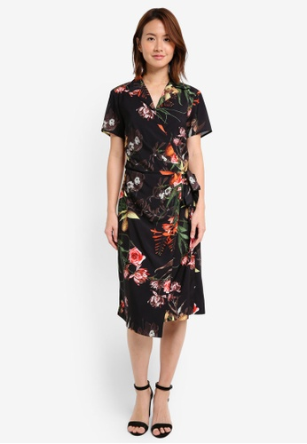 18a5858fc60b0 Shop ZALORA Studio Short Sleeve Wrap Dress Online on ZALORA Philippines