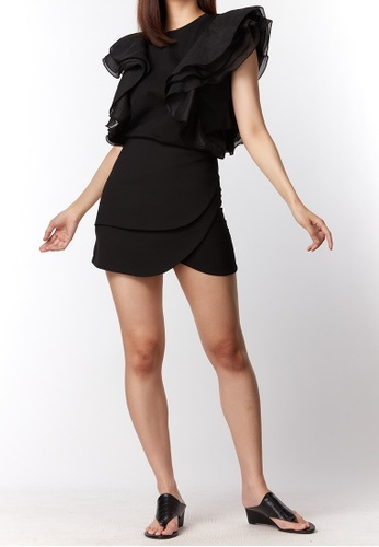 What To Wear black Tulip Short Skirt in Black 1E67AAA4386F44GS_1