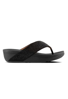 8047e914149be Fitflop Ritzy Toe-Thong Sandals (Crystall) (Black) 3FF33SH3DC1A67GS 1