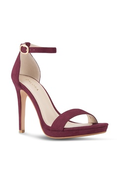 f5184c5bf09 16% OFF ZALORA Ankle Strap Sandal Heel S  44.90 NOW S  37.90 Available in  several sizes