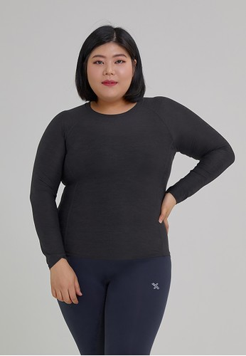 xexymix grey Soft Feather Sports Long Sleeve in Charcoal 3759CAA25FCA7CGS_1
