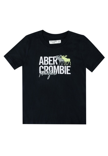 Abercrombie & Fitch navy Script Tech Logo T-Shirt 8D177KA92E630DGS_1