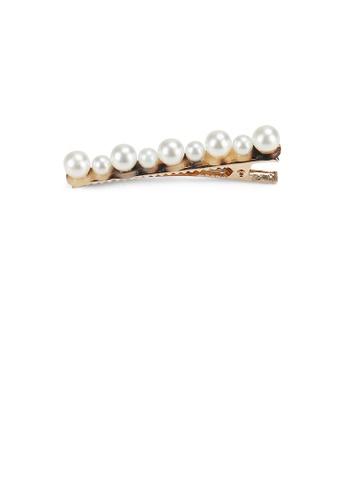 Glamorousky white Fashion Simple Light Tortoiseshell Imitation Pearl Hair Clip 6949EAC2DF7C0FGS_1