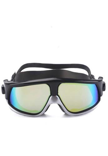 Hamlin black Hamlin Qanic Kacamata Renang Diving Snorkling Large Frame Anti Fog UV Protection Material Silicone ORIGINAL 40994KC362A9E8GS_1