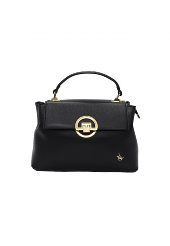 POLOVENZI black POLOVENZI Ladies Hand Bag + Free Gift 76A42ACAAE70BCGS_1