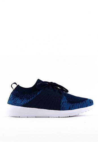 World Balance blue Weave Flex MS Sneakers F1DE8SHEC08D6BGS_1