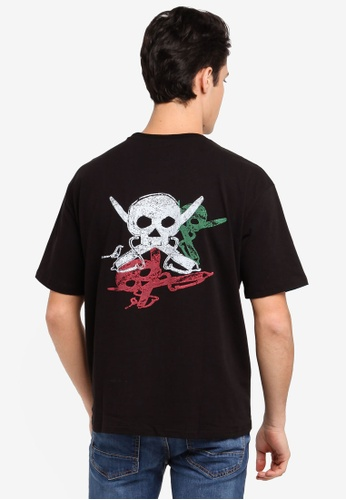 SPARROW GREEN multi Shull Shadow Skull-Head T-Shirt 9E7F2AAFD95D5CGS_1