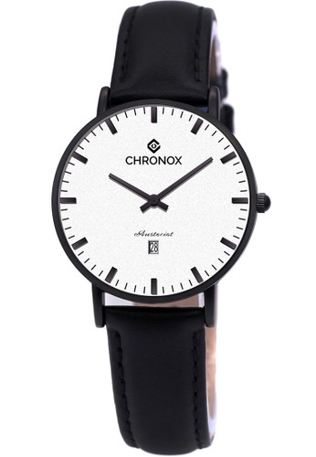 CHRONOX black CHRONOX CX1007 D1 Hitam Putih - Jam Tangan Wanita Casual -Tali  Hitam 7e426cd99b