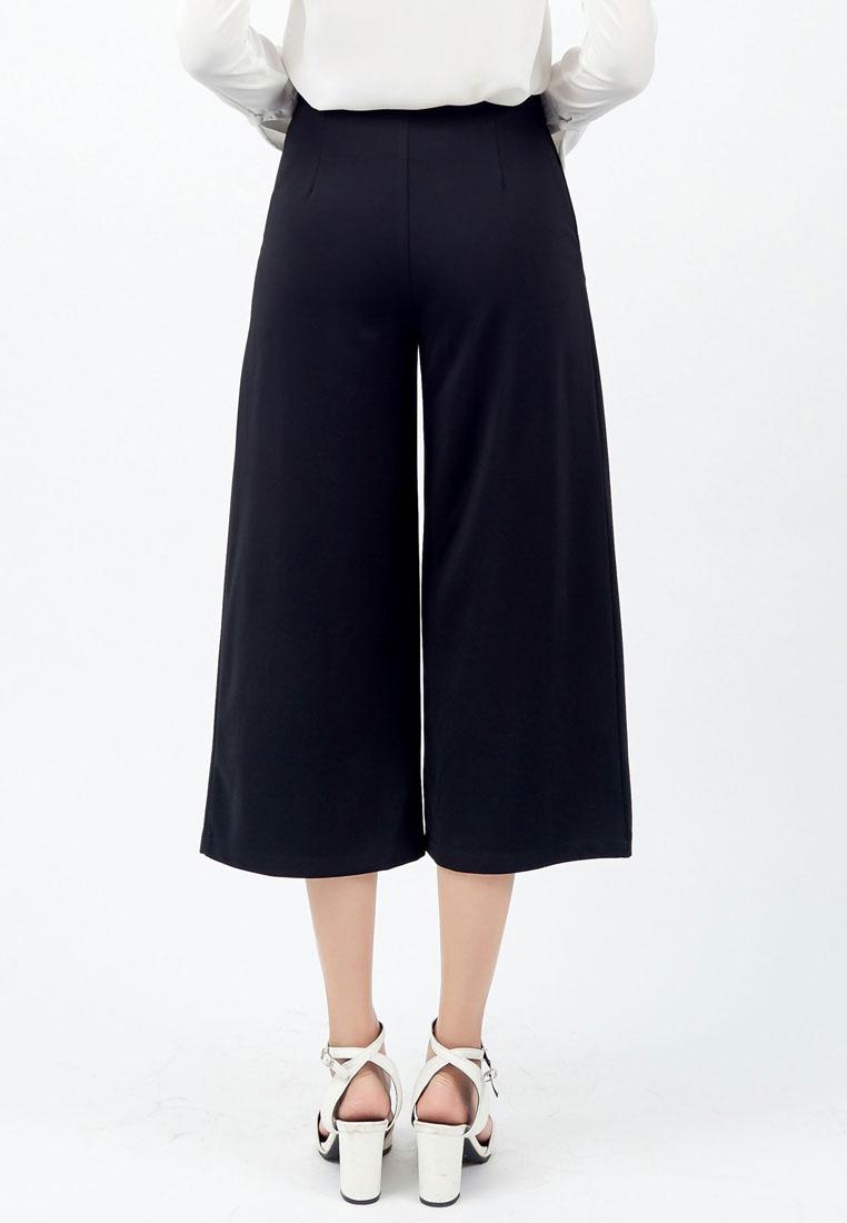 Black Pants Kodz Quarter Three Wide Legged CXn6qwpfO