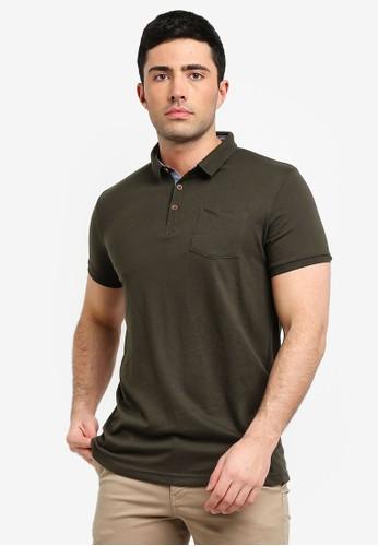 Brave Soul green Julius Polo Shirt D7B7DAA7DD66EEGS_1