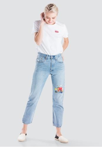 3da0e89689 Levi s blue Womens Levi s® x Peanuts 501® Crop Jeans 36200-0044  D1CEBAAC1F7DFFGS 1