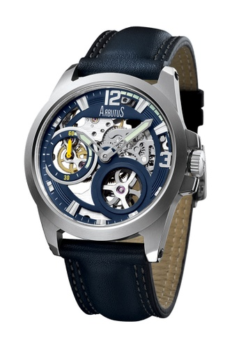 Arbutus blue Skeleton Open Dial Automatic AR142AC73HZMSG_1