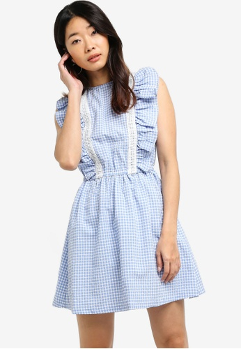 Something Borrowed blue Ruffles Front Fit & Flare Dress 80648AA9179A4EGS_1