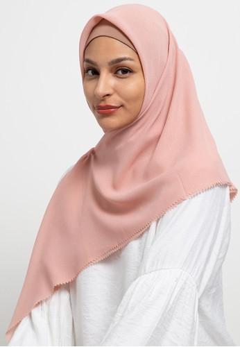 Aira Muslim Butik pink Voal Plain Scarf 1DAFDAAA5B0727GS_1
