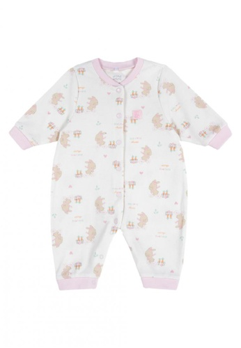 Chicco pink Long Robe Rompers EBCDCKA9DEB80AGS_1