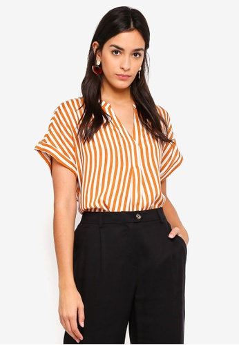 Vero Moda white and orange Bloom Short Sleeve Top 823C6AACA848F6GS_1
