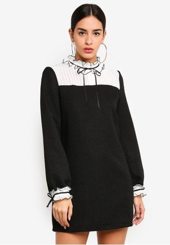 Sister Jane black and multi Autopilot Bib Dress 15E4BAA4CC94C0GS_1
