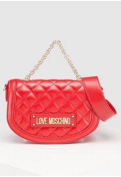 b0f8e64a3631 Love Moschino red Quilted Sling Bag B78ADAC820FEF5GS 1
