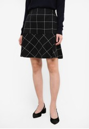 Dorothy Perkins black Check Mini Pephem Skirt DO816AA0RP4EMY_1