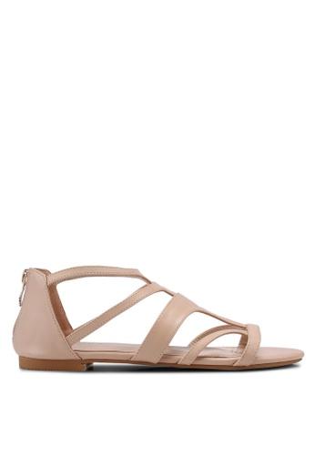ZALORA beige Gladiator Sandals 35780SHE01BD9AGS_1