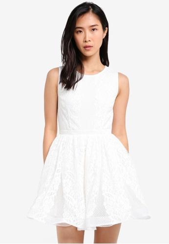 ZALORA white Fit & Flare Lacework Dress 55427AA449A16CGS_1