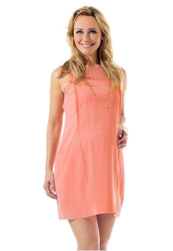 Bove by Spring Maternity Woven Short Sleeve Celestina Patch Pocket Dress IDN5601 BO010AA32NVZSG_1