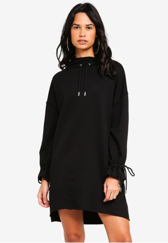 TOPSHOP 黑色 Oversized Sweat Dress 09875AA8DAA726GS_1