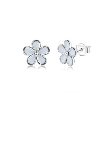 Glamorousky silver 925 Sterling Silver Simple Fashion Daisy Stud Earrings CE259AC3461CACGS_1