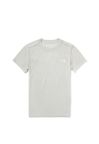 The North Face grey The North Face Women's Active Trail Wool S/S Tee Tin Grey B8563AA50A6621GS_1
