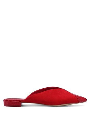 TOPSHOP red Alice Croc Mules F3335SH0D9D286GS_1