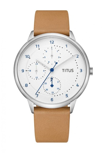 Solvil et Titus brown Nordic Tale Men's Quartz Analog Watch in Silver White Dial and Camel Leather Strap DC0C7ACD9C4B92GS_1