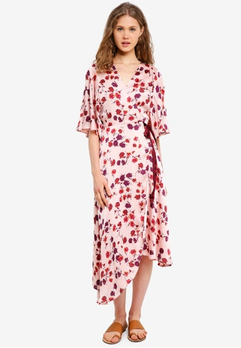 ESPRIT pink Light Woven Midi Dress 9B678AA1E8A9F4GS_1