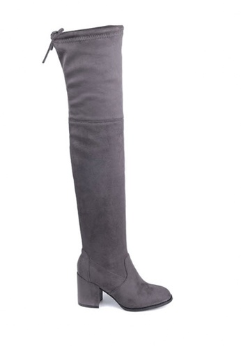 Twenty Eight Shoes grey Skinny Over Knee Heel Long Boots 661-2 TW446SH47BSQHK_1
