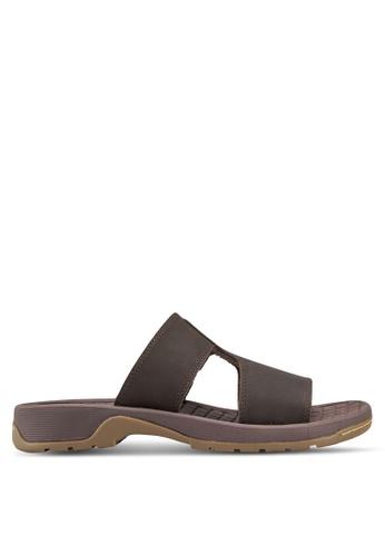 Dr. Martens brown Quay Slip On Sandals DR086SH13FRUMY_1