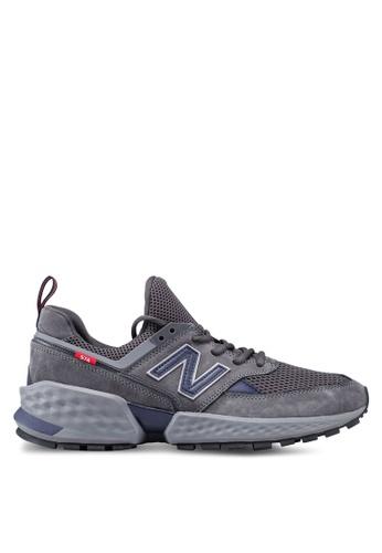 New Balance grey 574S V2 Fresh Foam Shoes 9FBEBSH1526324GS_1