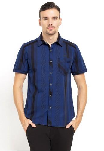 LGS blue and multi LGS - Slim Fit - Kemeja Fashion - Motif Garis - Biru 99A44AAF9148B5GS_1