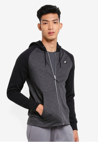 Nike black As M Nsw Optic Hoodie Fz FA6EDAA20FC9C7GS_1